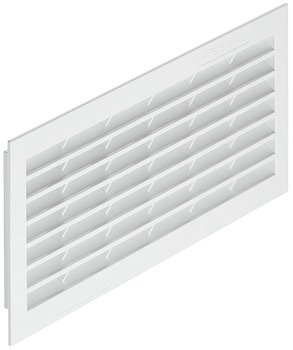 Ventilation Grill, for Recess Mounting, White, Plastic