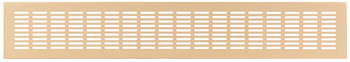 Ventilation Grill, for Recess Mounting with 20 x 3 mm Oval Slots Arranged in Parallel