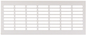 Ventilation Grill, for Recess Mounting with 30 x 6 mm Oval Slots Arranged in Parallel