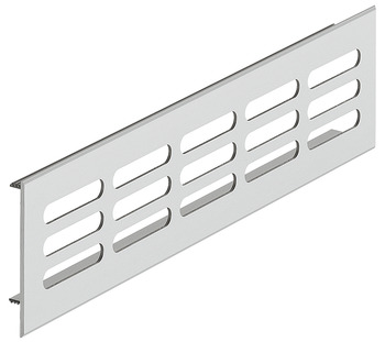 Ventilation Grill, for Recess Mounting with 40 x 7.5 mm Oval Slots Arranged in Parallel