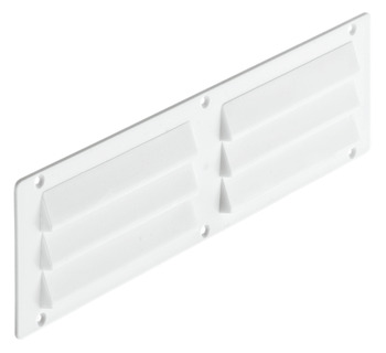 Ventilation Grill, Louvre Type, Surface Mounted, 250 x 70 mm, Plastic