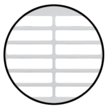 Ventilation Grille, for Recess Mounting, 480 x 80 mm