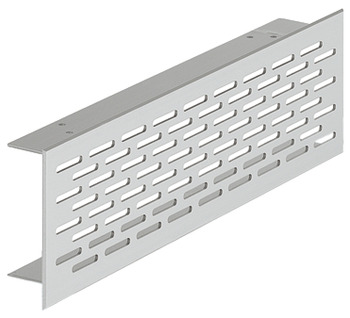 Ventilation Grille, for Recess Mounting with 20 x 3 mm Oval Slots Arranged in an Offset Pattern
