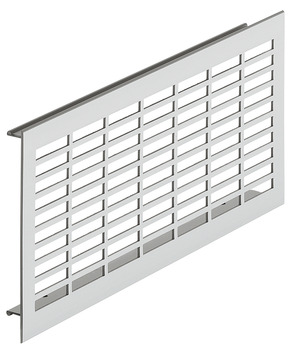 Ventilation Grille, for Recess Mounting with 30 x 6 mm Rectangular Slots Arranged in Parallel