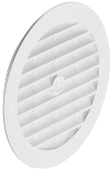 Ventilation Grille, for Recess Mounting, with Flanged Rim, Ø 123 mm, Plastic
