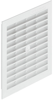 Ventilation Grille, for Recess Mounting, with Flanged Rim, 154 x 154 mm, Plastic