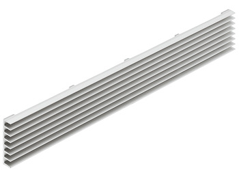 Ventilation Grille, Louvre Type Ventilation Slots, Surface Mounted