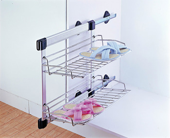 Wardrobe Pull Out, Side Mounted Basket, Width 285-295 mm