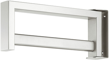 Wardrobe Rail, Length 317 mm Height 125 mm Width 50 mm, Stainless Steel