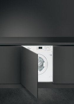 Washer Dryer, Fully Integrated, Dry Laundry 7 kg, Smeg
