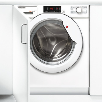 Washing Machine, Integrated, Dry Laundry 8 kg, Hoover