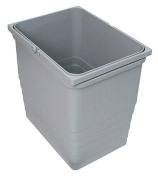 Waste Bin, Grey Plastic, One2Five System