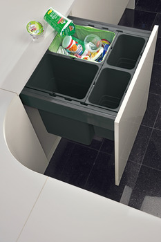Waste Bin System, for Grass Nova Pro and Häfele MX Drawer Boxes, Ninka One2Five