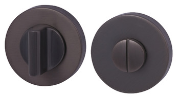 WC Release and Inside Turn, Round, Ø 52 mm, Zinc Alloy, RO12