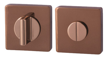 WC Release and Inside Turn, Square, 52 x 52 mm, Zinc Alloy, RO11