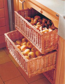 Wicker Basket, Free Standing, for Min. Cabinet Width 450-500 mm