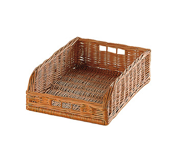 Wicker Basket, Free Standing, with Angled Front