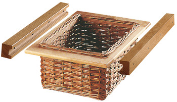 Wicker Basket Set, with Runners, for Cabinet Width 500 mm