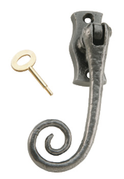 Window Handle, Locking, for Espagnolette Bolts, Iron, Kirkpatrick