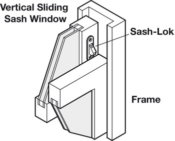 Window Restrictor, Sash, Steel and Plastic, Sash-Lok