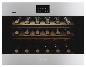 Wine Cooler, 18 Bottle, Built In, with Handle-Less Door, Wifi Enabled, Smeg Classic