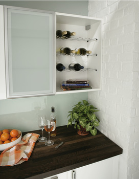 Wine Rack, Single Shelf, Chrome Wire, for Cabinets