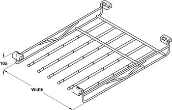Wire Rail for Trousers, for Dream Range, Vibo