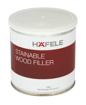 Wood Filler, Stainable, 2 Part, Tin Size 350 ml - 1 Litre, Häfele