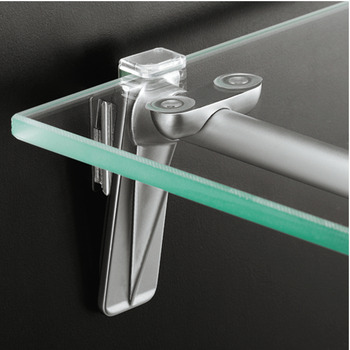 Wooden and Glass Shelf Support, Length 227-327 mm, Point and Rail Suspension System