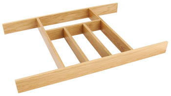Wooden Cutlery Insert, for Drawer Width 400-1000 mm
