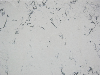 Worktop for Island Unit, Lyskam White, Apollo<sup>®</sup> Quartz