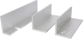Z and L Brackets, for Standard Electromagnetic Locks, to Convert Magnet for Inswinging Doors