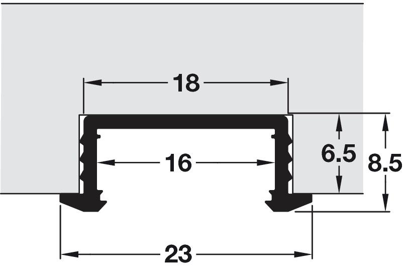 Aluminium Profile, for LED Flexible Strip Lights - Häfele