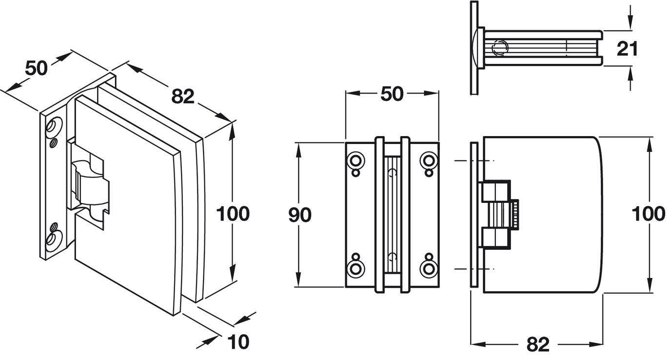 Automatic Glass Door Hinge Glass To Wall Hinge 180 Fernando