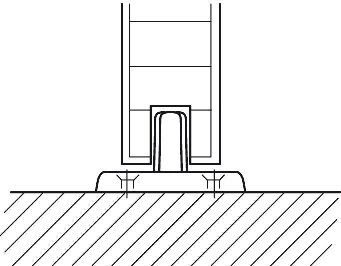 bottom guide for sliding interior doors hawa junior h fele u k shop. Black Bedroom Furniture Sets. Home Design Ideas