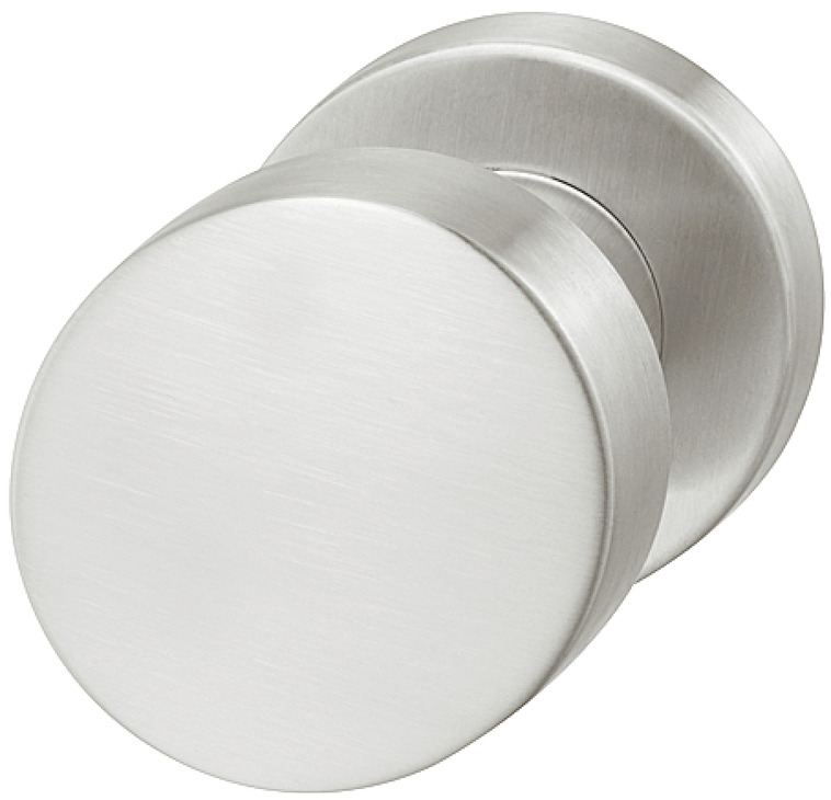 Centre Door Knob Fixed Round on Round Rose 304 Stainless Steel