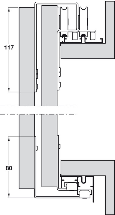 Complete Door Set With Tracks For Sliding Wardrobe Doors