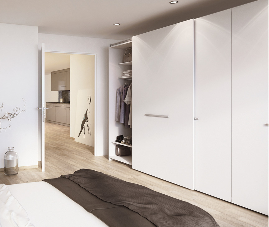 Complete Fitting Set For Sliding Cabinet And Wardrobe