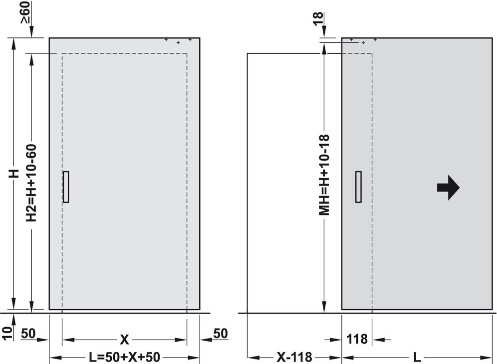 Complete set for 1 sliding interior door slido design 80 - Interior door installation instructions ...