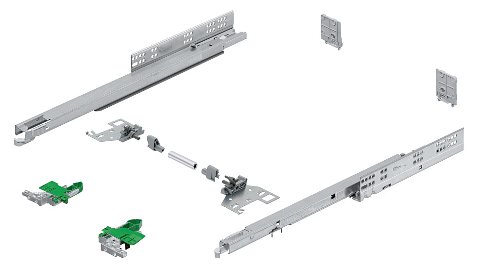 Concealed Drawer Runners Full Extension Load Bearing