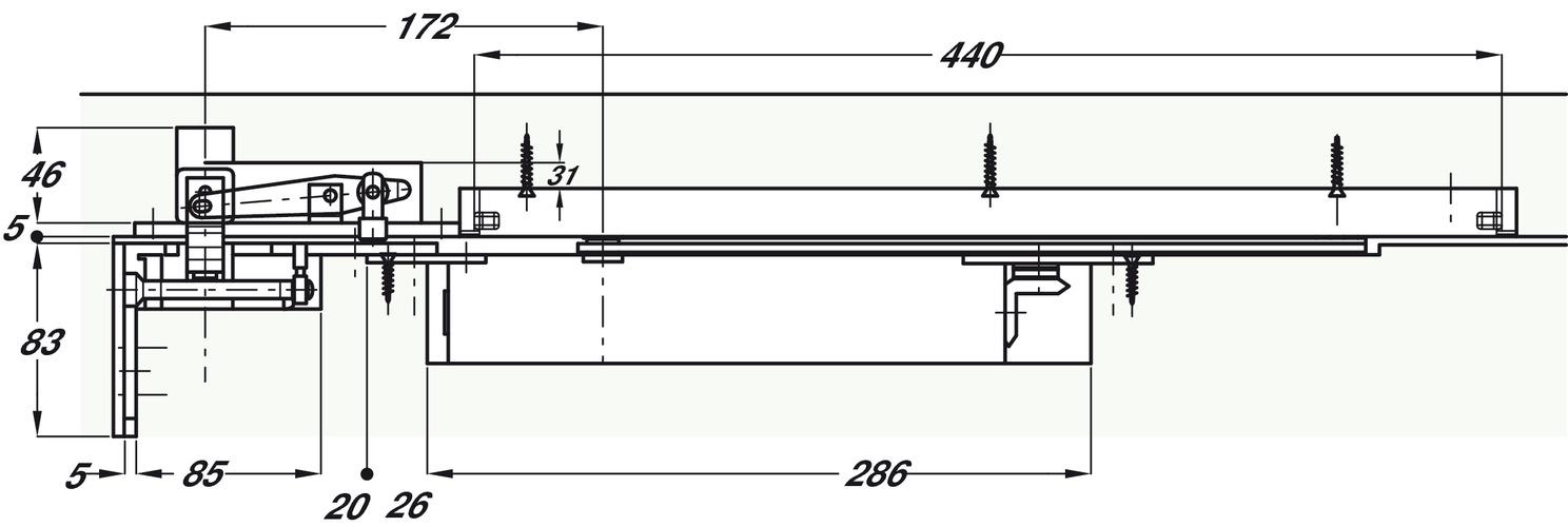 door closer concealed overhead double action geze boxer h fele u k shop. Black Bedroom Furniture Sets. Home Design Ideas