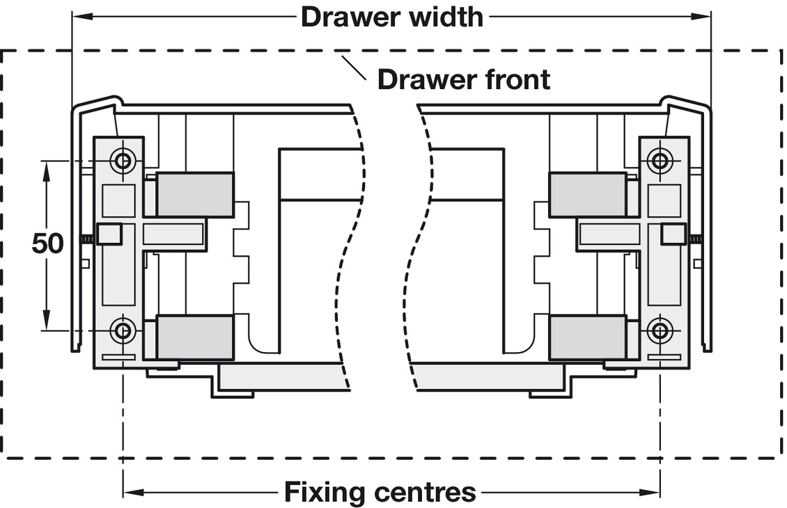 Drawer For Moulded Plastic Drawer System Depth 430 Mm For Dynamic