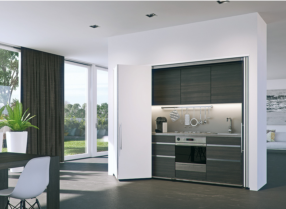 Fitting Set For Folding And Pivoting Cabinet Doors Hawa