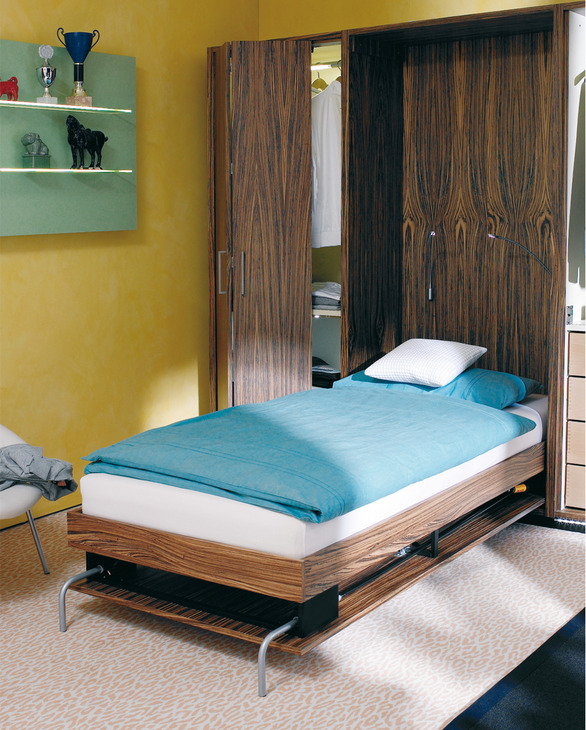 end mounted - Fold Away Bed