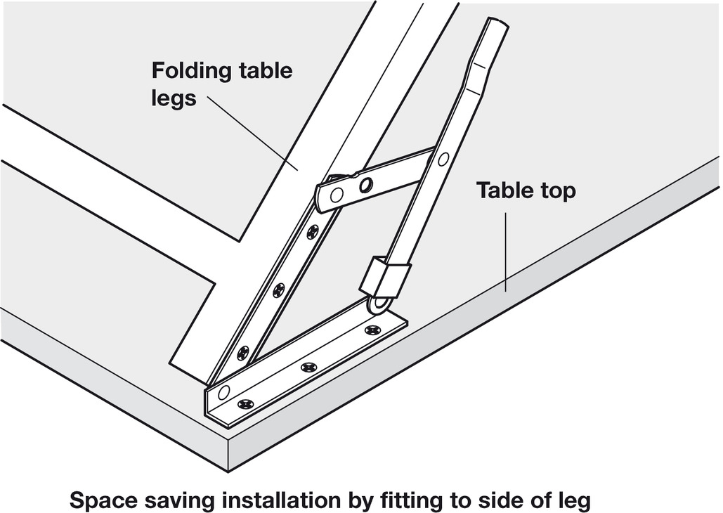 Folding Bracket For Tables And Benches Profile