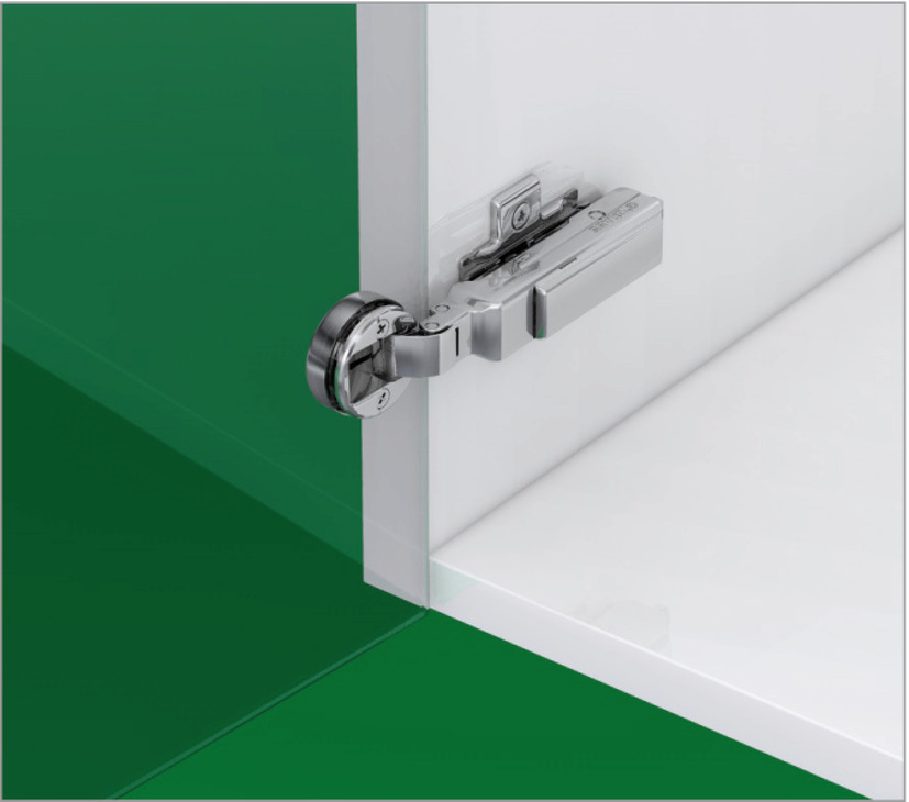 Glass Door Hinge 95 Full Overlay Mounting Click On Arm Grass