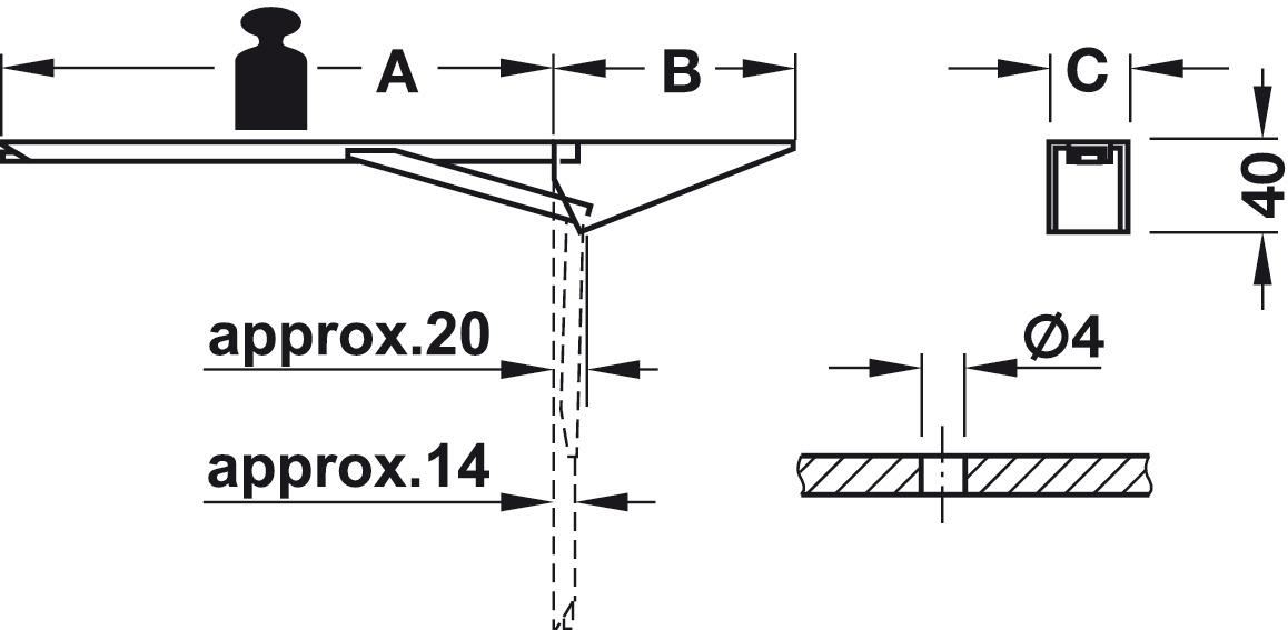 Hinged Spring Bracket Screw Fixing Load Bearing Capacity