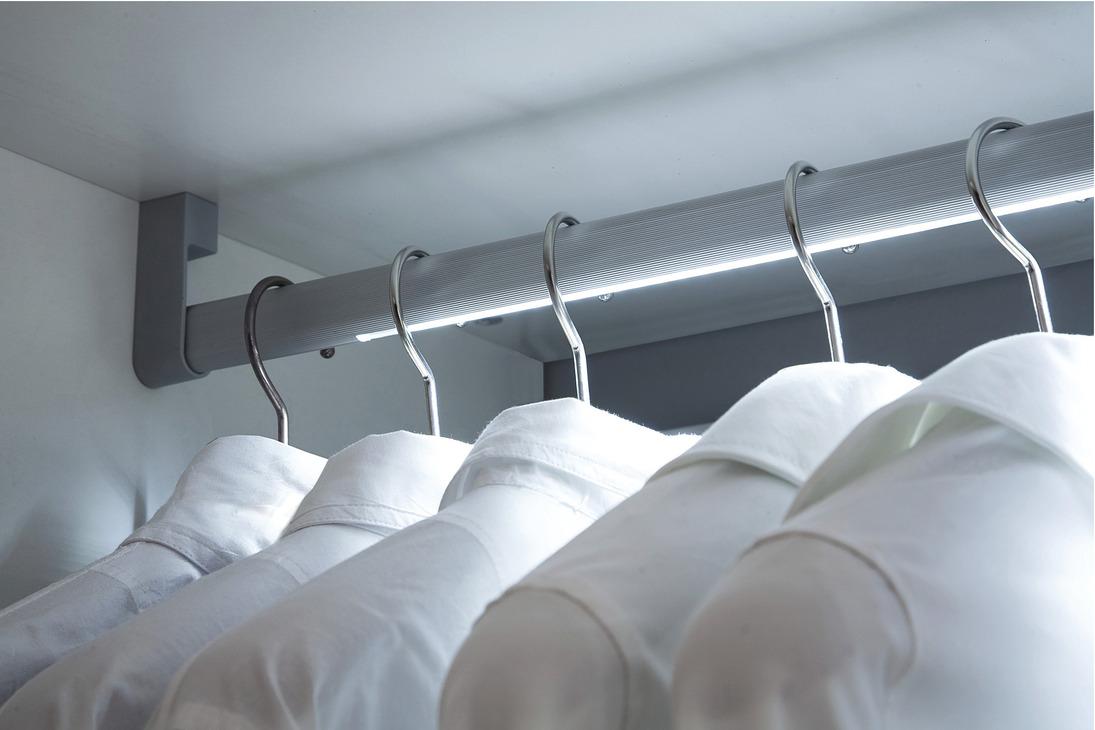 Led Wardrobe Rail Light 12 V Rated Ip20 Length 540 1050