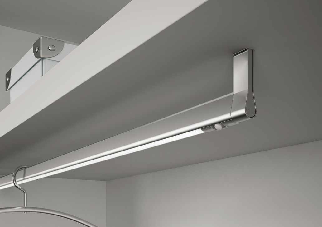 Led Wardrobe Rail Light 12 V Rated Ip20 Length 840 1140