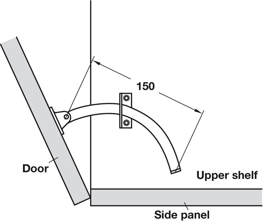 Lid Stay, Also for use as a Door Restraint - Häfele U.K. Shop